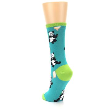 Image of Lagoon Blue Panda Party Women's Dress Socks (side-2-back-16)