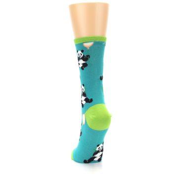 Image of Lagoon Blue Panda Party Women's Dress Socks (back-17)