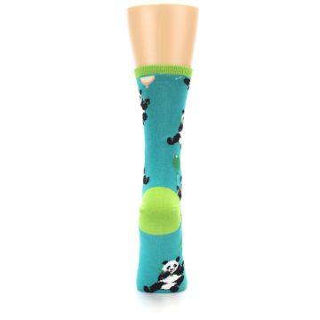 Image of Lagoon Blue Panda Party Women's Dress Socks (back-19)