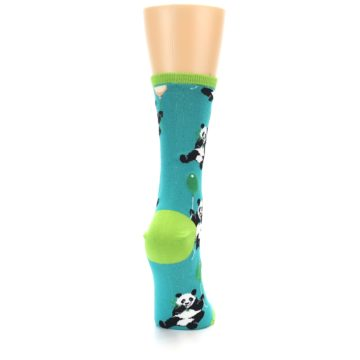 Image of Lagoon Blue Panda Party Women's Dress Socks (side-1-back-20)