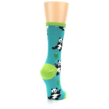 Image of Lagoon Blue Panda Party Women's Dress Socks (side-1-back-21)