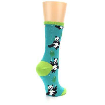 Image of Lagoon Blue Panda Party Women's Dress Socks (side-1-back-22)