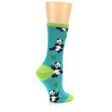 Image of Lagoon Blue Panda Party Women's Dress Socks (side-1-23)
