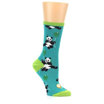 Image of Lagoon Blue Panda Party Women's Dress Socks (side-1-26)