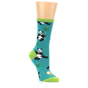 Image of Lagoon Blue Panda Party Women's Dress Socks (side-1-27)