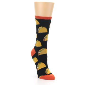 Image of Black Tacos Women's Dress Socks (side-1-front-02)