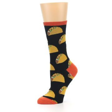 Image of Black Tacos Women's Dress Socks (side-2-10)