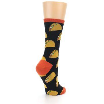 Image of Black Tacos Women's Dress Socks (side-1-back-22)
