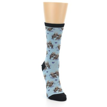 Image of Blue Significant Otter Women's Dress Socks (side-1-front-03)