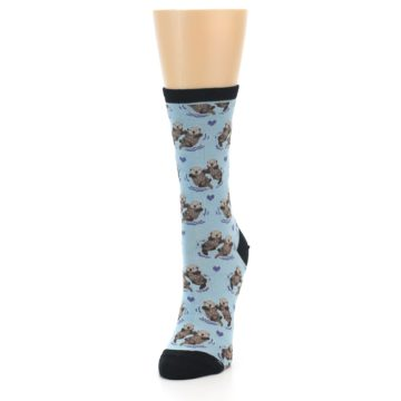 Image of Blue Significant Otter Women's Dress Socks (side-2-front-07)