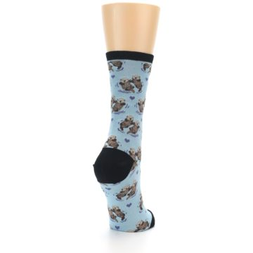 Image of Blue Significant Otter Women's Dress Socks (side-1-back-21)