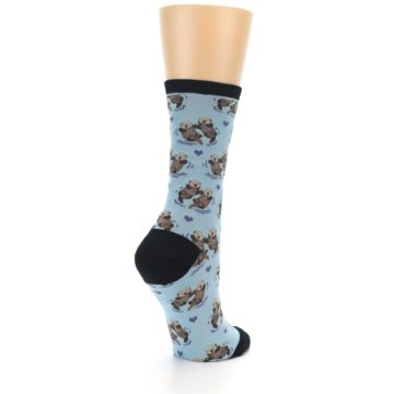 Image of Blue Significant Otter Women's Dress Socks (side-1-back-22)