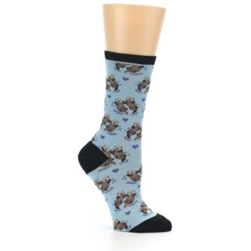 Image of Blue Significant Otter Women's Dress Socks (side-1-26)