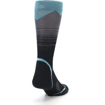 Image of Grey Blue Bird Wool Men's PhD Outdoor Socks (side-1-back-20)