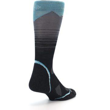 Image of Grey Blue Bird Wool Men's PhD Outdoor Socks (side-1-back-21)