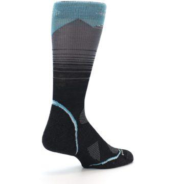 Image of Grey Blue Bird Wool Men's PhD Outdoor Socks (side-1-back-22)
