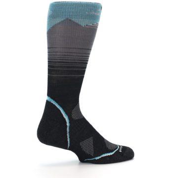 Image of Grey Blue Bird Wool Men's PhD Outdoor Socks (side-1-23)