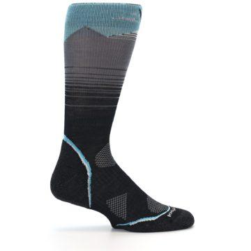 Image of Grey Blue Bird Wool Men's PhD Outdoor Socks (side-1-24)