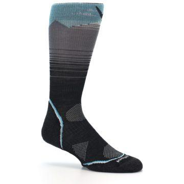Image of Grey Blue Bird Wool Men's PhD Outdoor Socks (side-1-26)