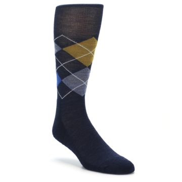 Smartwool Men's Lifestyle Diamond Jim Socks Deep Navy Bright Blue Heather