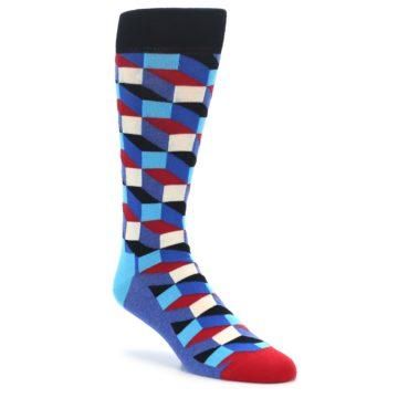 Happy Socks Optical Blue Red White for Men