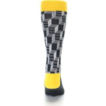 Image of Grey Yellow Optical Men's Dress Socks (back-18)