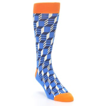 Image of Blue Orange Optical Men's Dress Socks (side-1-front-02)