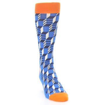 Image of Blue Orange Optical Men's Dress Socks (side-1-front-03)