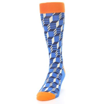 Image of Blue Orange Optical Men's Dress Socks (side-2-front-06)