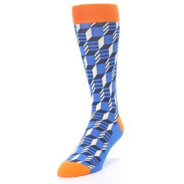 Image of Blue Orange Optical Men's Dress Socks (side-2-front-07)