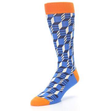 Image of Blue Orange Optical Men's Dress Socks (side-2-front-08)