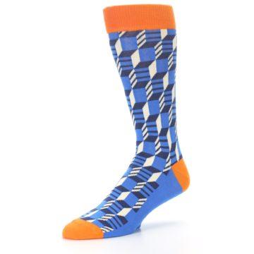 Image of Blue Orange Optical Men's Dress Socks (side-2-09)