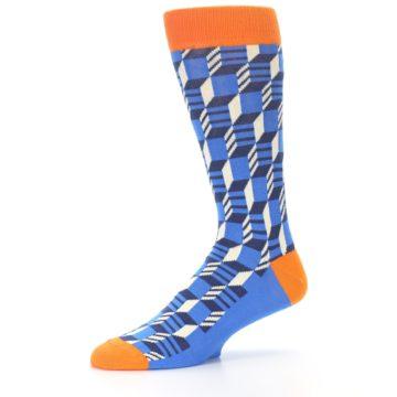 Image of Blue Orange Optical Men's Dress Socks (side-2-10)