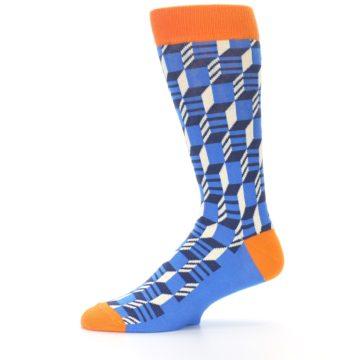 Image of Blue Orange Optical Men's Dress Socks (side-2-11)