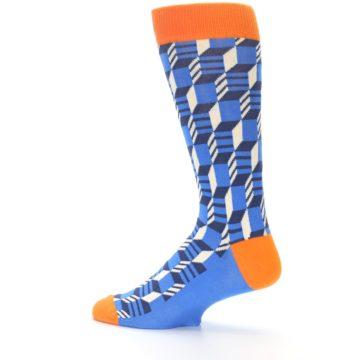 Image of Blue Orange Optical Men's Dress Socks (side-2-13)