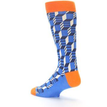 Image of Blue Orange Optical Men's Dress Socks (side-2-back-14)