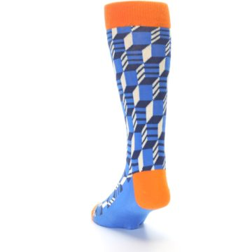 Image of Blue Orange Optical Men's Dress Socks (side-2-back-16)