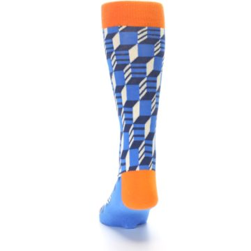 Image of Blue Orange Optical Men's Dress Socks (back-17)