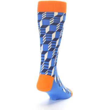 Image of Blue Orange Optical Men's Dress Socks (side-1-back-20)