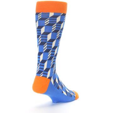 Image of Blue Orange Optical Men's Dress Socks (side-1-back-21)