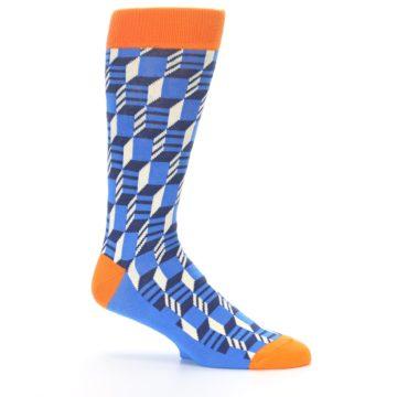 Image of Blue Orange Optical Men's Dress Socks (side-1-25)