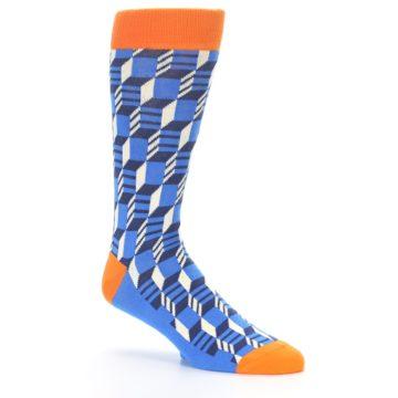 Image of Blue Orange Optical Men's Dress Socks (side-1-26)