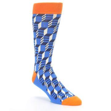 Image of Blue Orange Optical Men's Dress Socks (side-1-27)