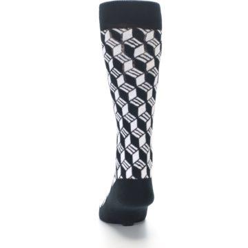 Image of Black White Cube Men's Dress Socks (back-17)