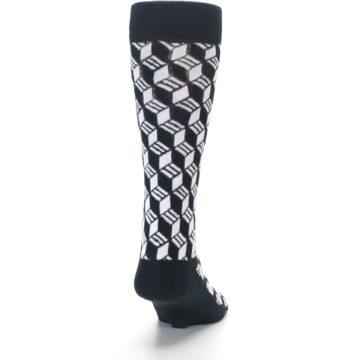 Image of Black White Cube Men's Dress Socks (back-19)