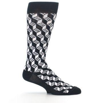 Image of Black White Cube Men's Dress Socks (side-1-25)
