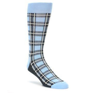 Blue Plaid Men's Dress Socks by Statement Sockwear