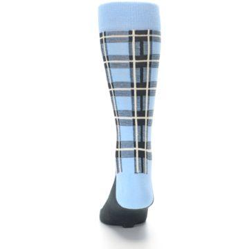 Image of Blue Charcoal Plaid Men's Dress Socks (back-17)