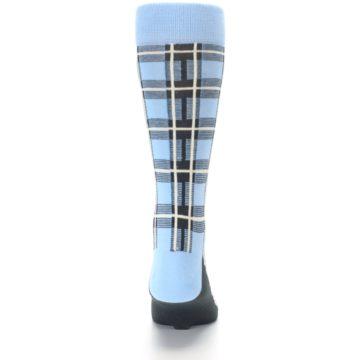Image of Blue Charcoal Plaid Men's Dress Socks (back-18)