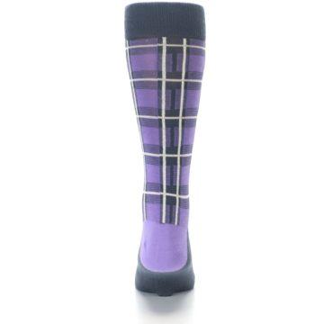 Image of Purple Plaid Men's Dress Socks (back-18)